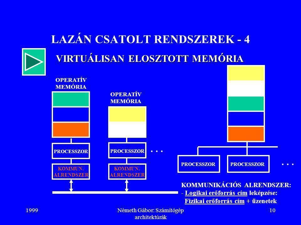 LAZÁN CSATOLT RENDSZEREK - 4