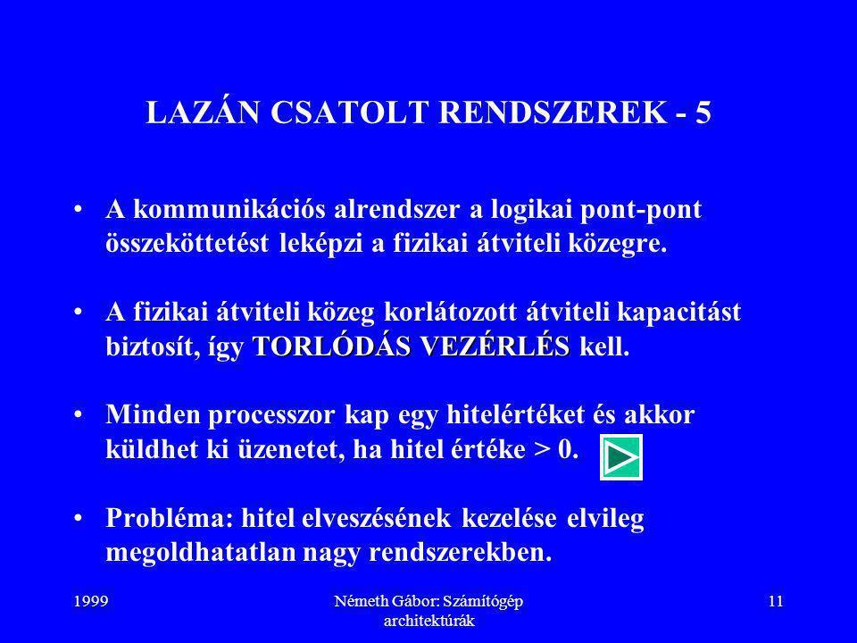 LAZÁN CSATOLT RENDSZEREK - 5
