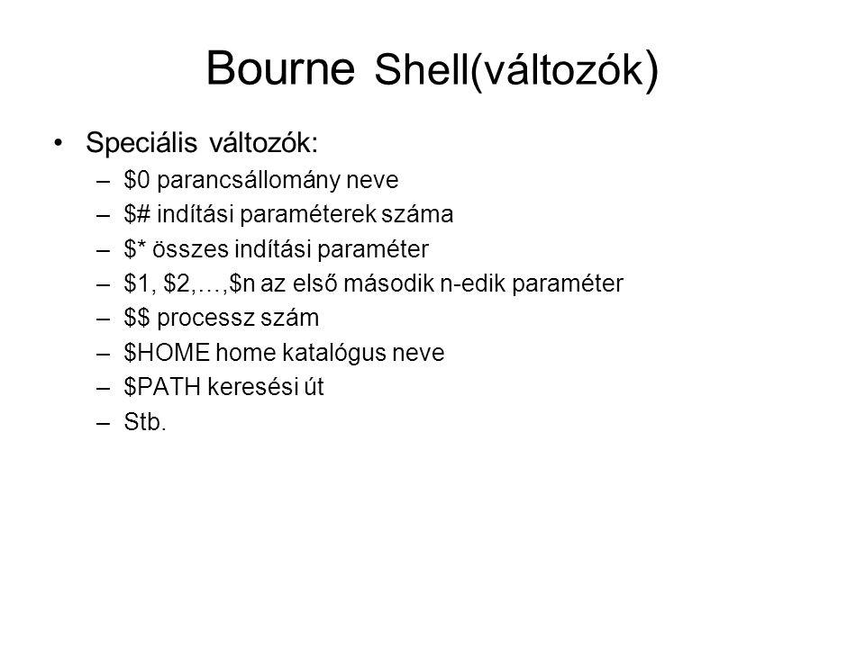 Bourne Shell(változók)