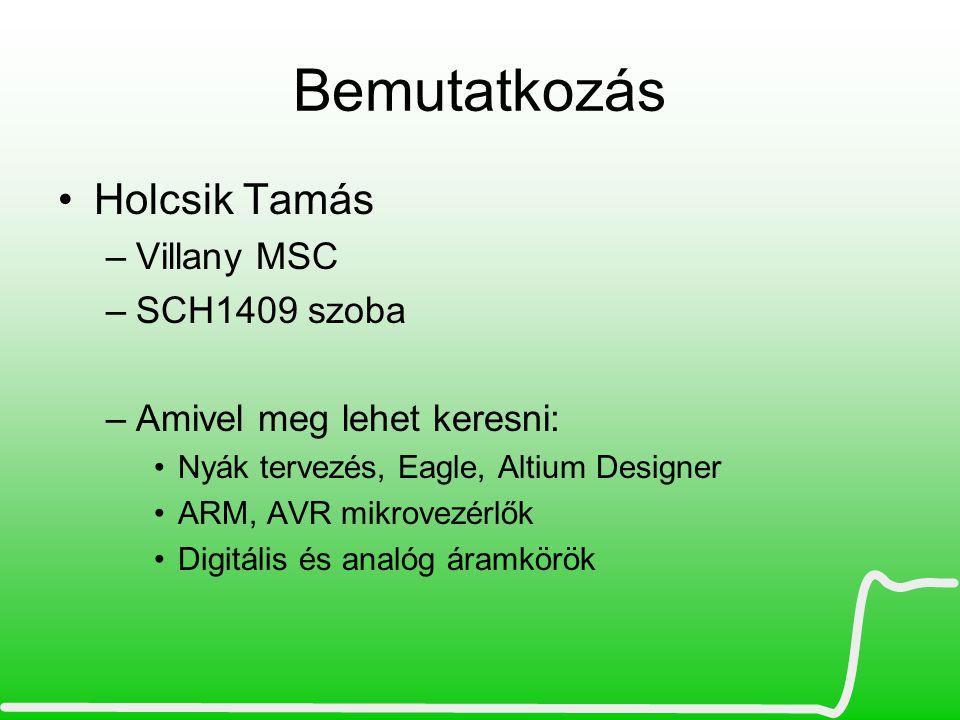 Bemutatkozás Holcsik Tamás Villany MSC SCH1409 szoba