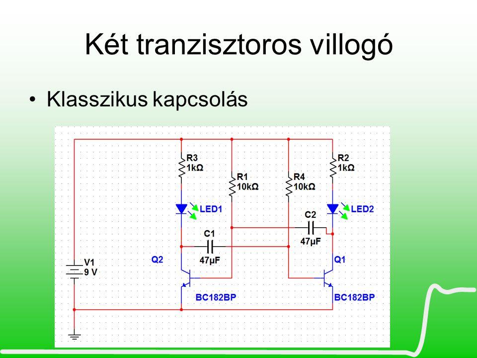 Két tranzisztoros villogó