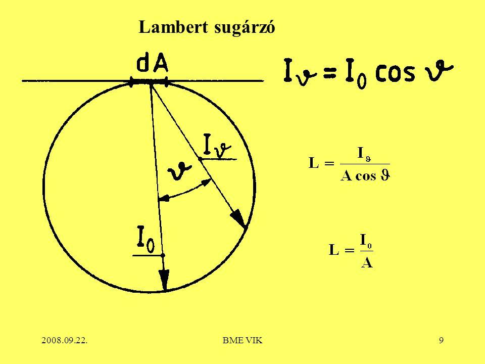 Lambert sugárzó 2008.09.22. BME VIK