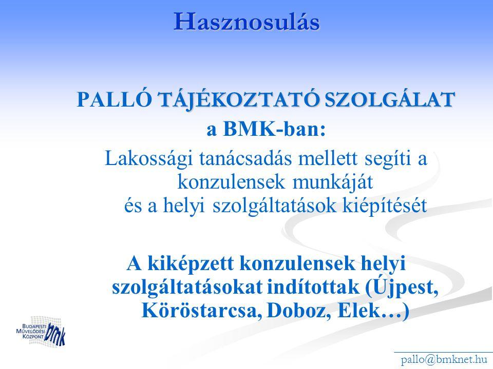 PALLÓ TÁJÉKOZTATÓ SZOLGÁLAT