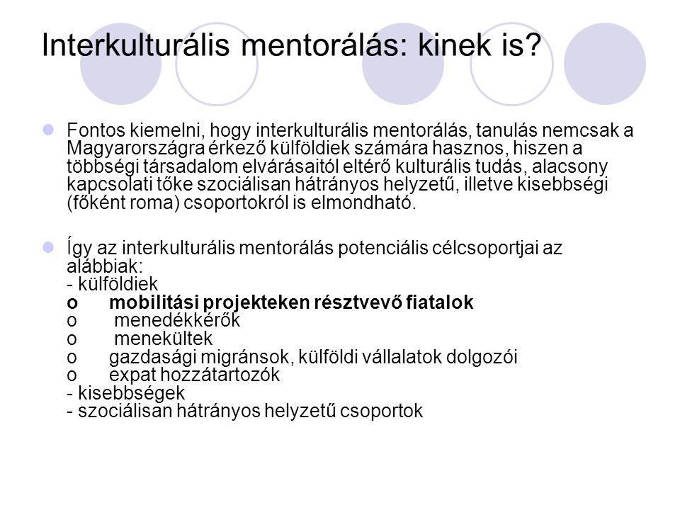 Interkulturális mentorálás: kinek is