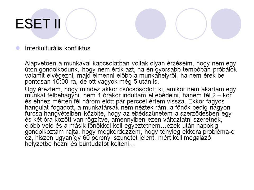 ESET II Interkulturális konfliktus