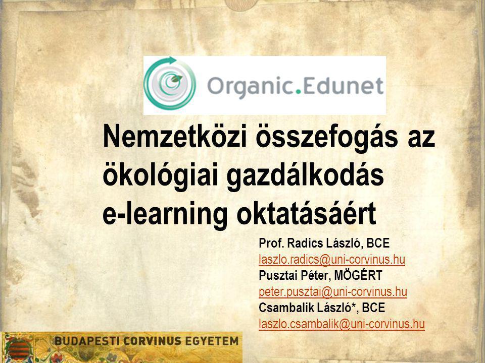 Nemzetközi összefogás az ökológiai gazdálkodás e-learning oktatásáért