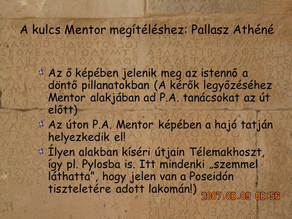 A kulcs Mentor megítéléshez: Pallasz Athéné