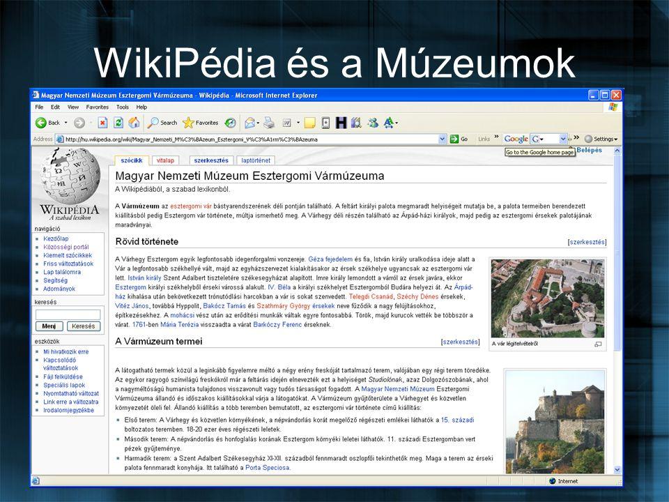 WikiPédia és a Múzeumok