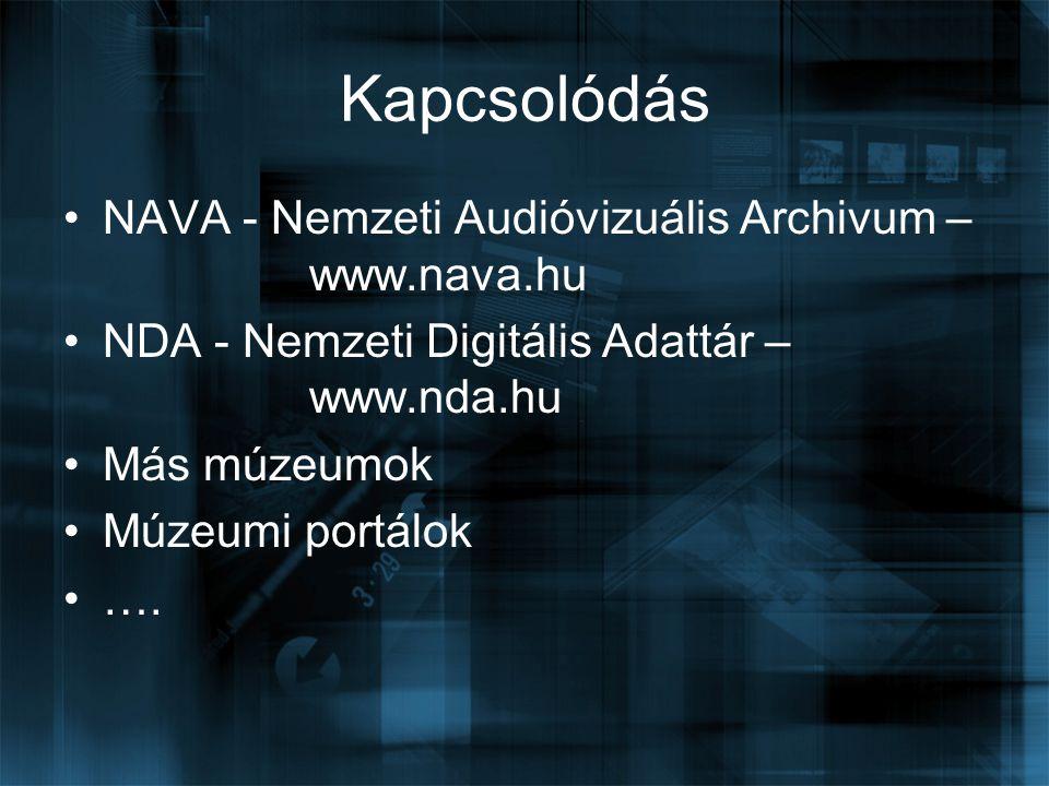 Kapcsolódás NAVA - Nemzeti Audióvizuális Archivum – www.nava.hu