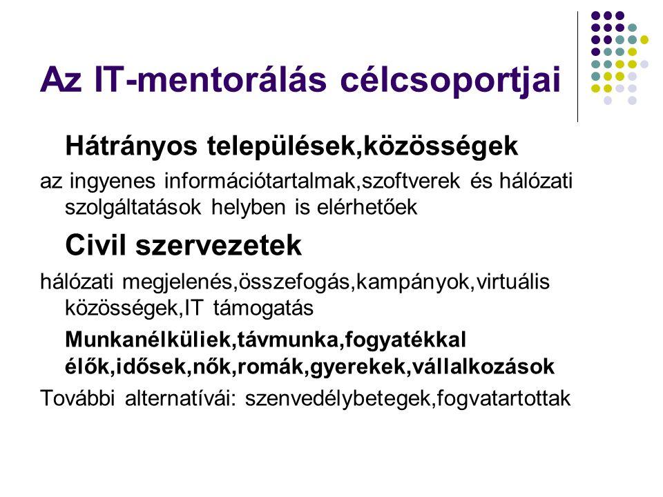 Az IT-mentorálás célcsoportjai