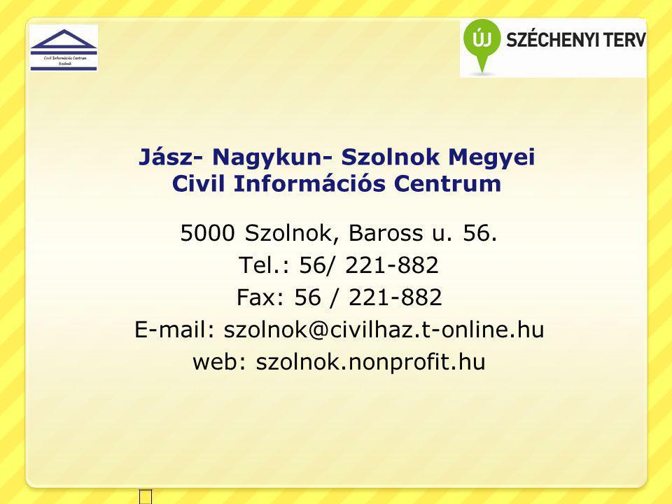 Jász- Nagykun- Szolnok Megyei Civil Információs Centrum