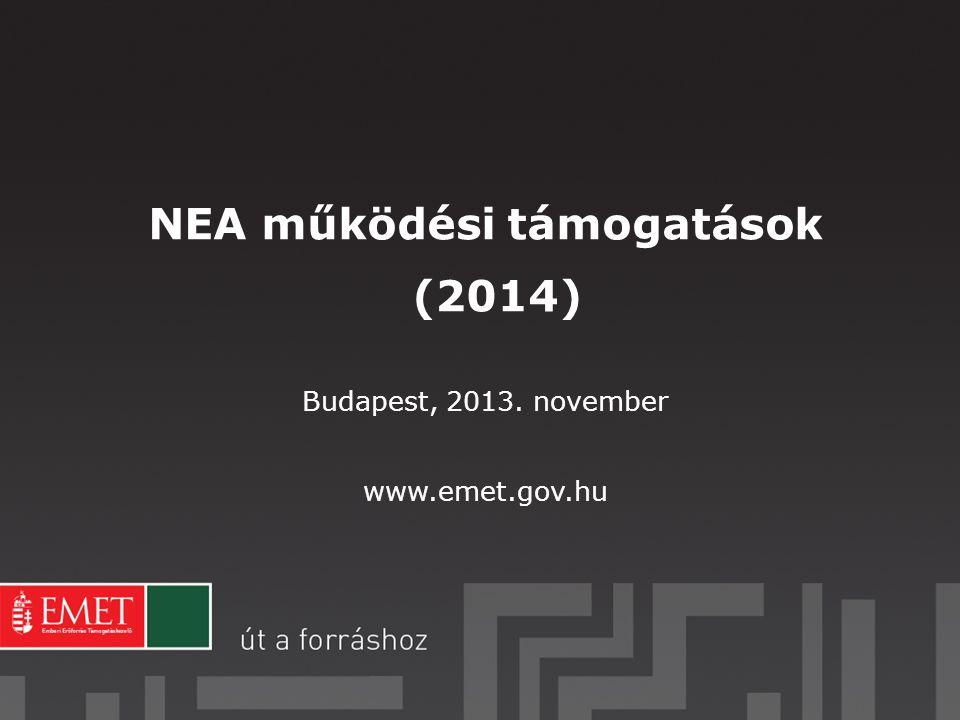 NEA működési támogatások (2014)