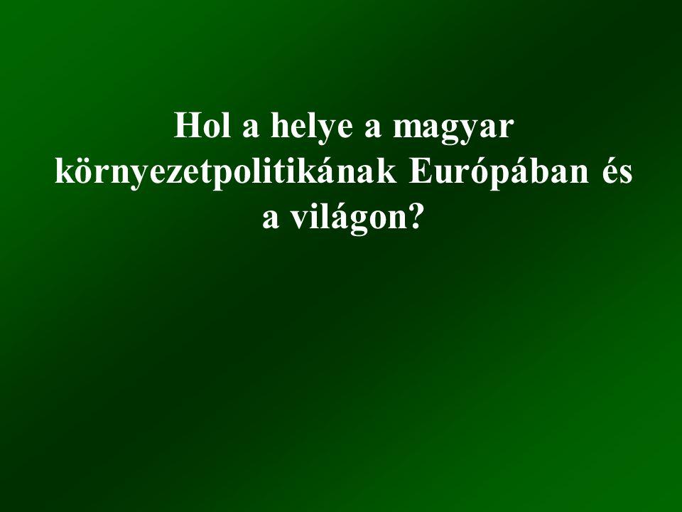 Hol a helye a magyar környezetpolitikának Európában és a világon