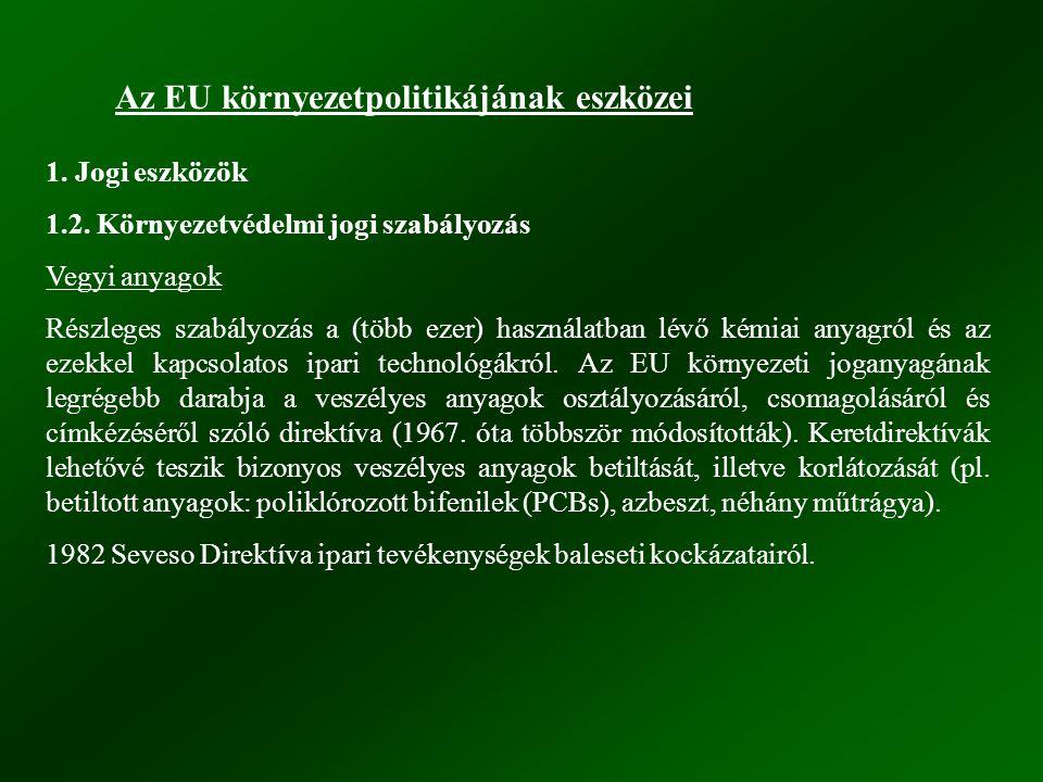 Az EU környezetpolitikájának eszközei