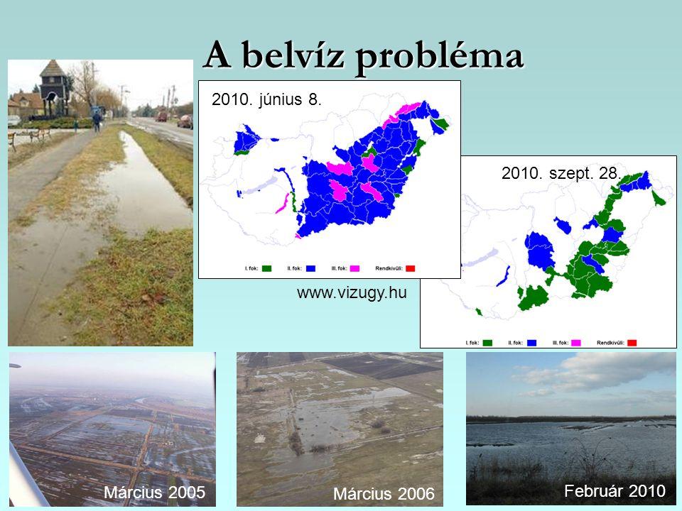 A belvíz probléma 2010. június 8. 2010. szept. 28. www.vizugy.hu
