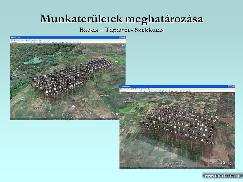 Munkaterületek meghatározása Batida – Tápairét - Székkutas