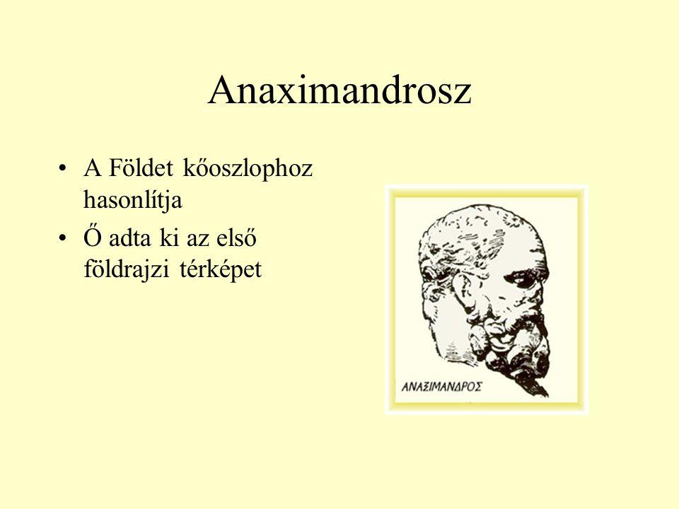 Anaximandrosz A Földet kőoszlophoz hasonlítja