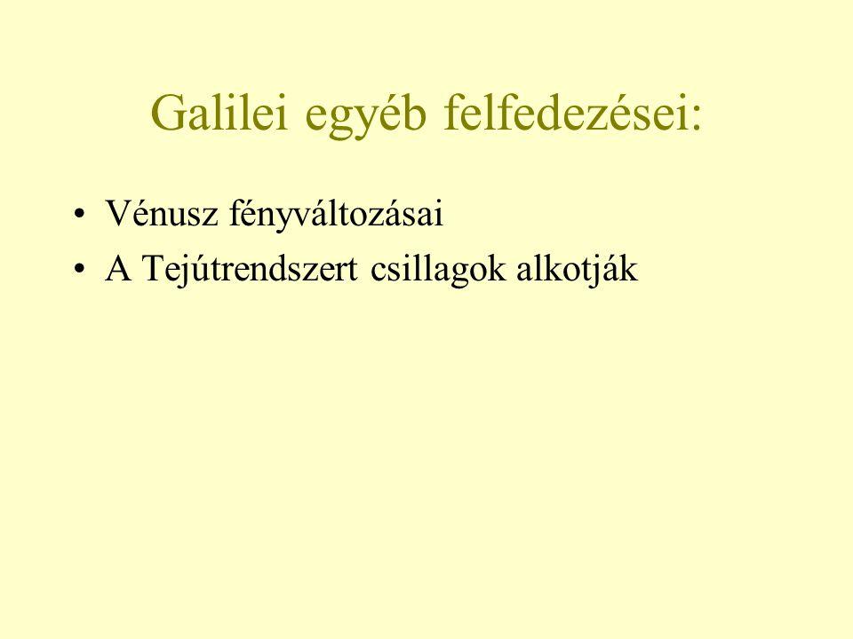 Galilei egyéb felfedezései:
