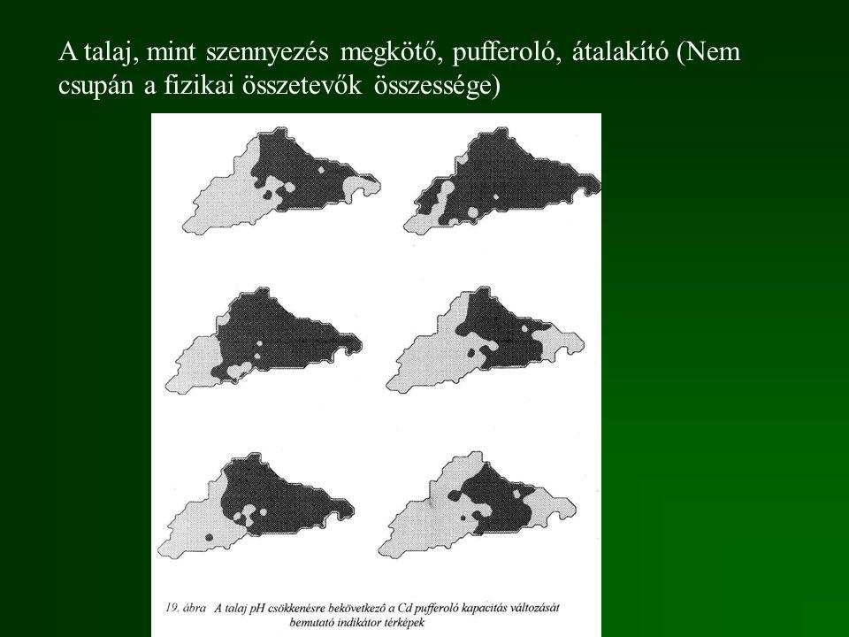 A talaj, mint szennyezés megkötő, pufferoló, átalakító (Nem csupán a fizikai összetevők összessége)