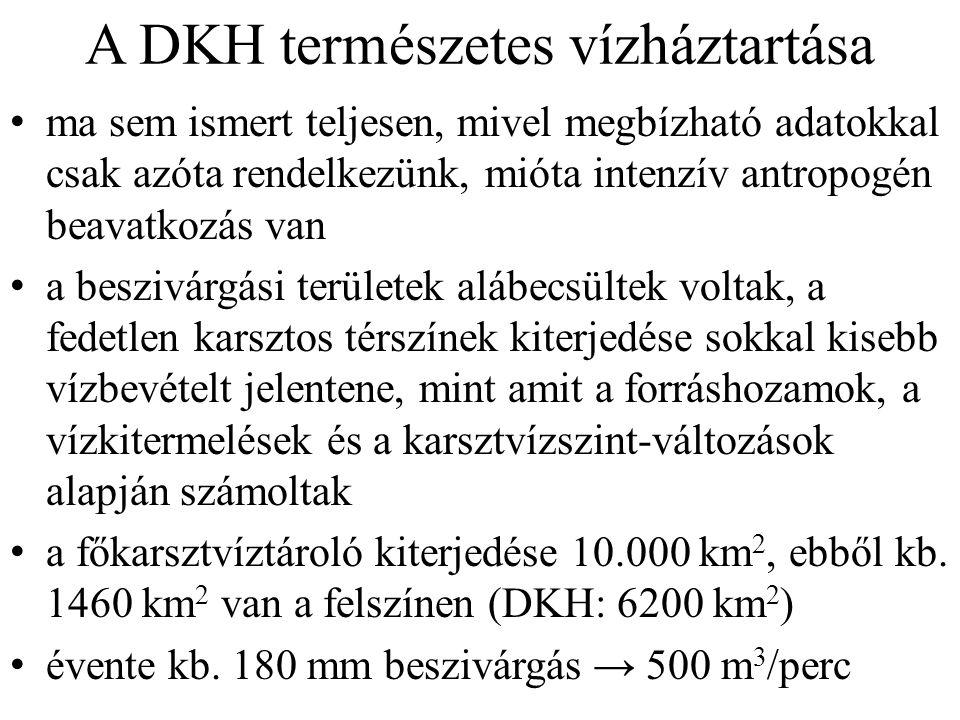 A DKH természetes vízháztartása