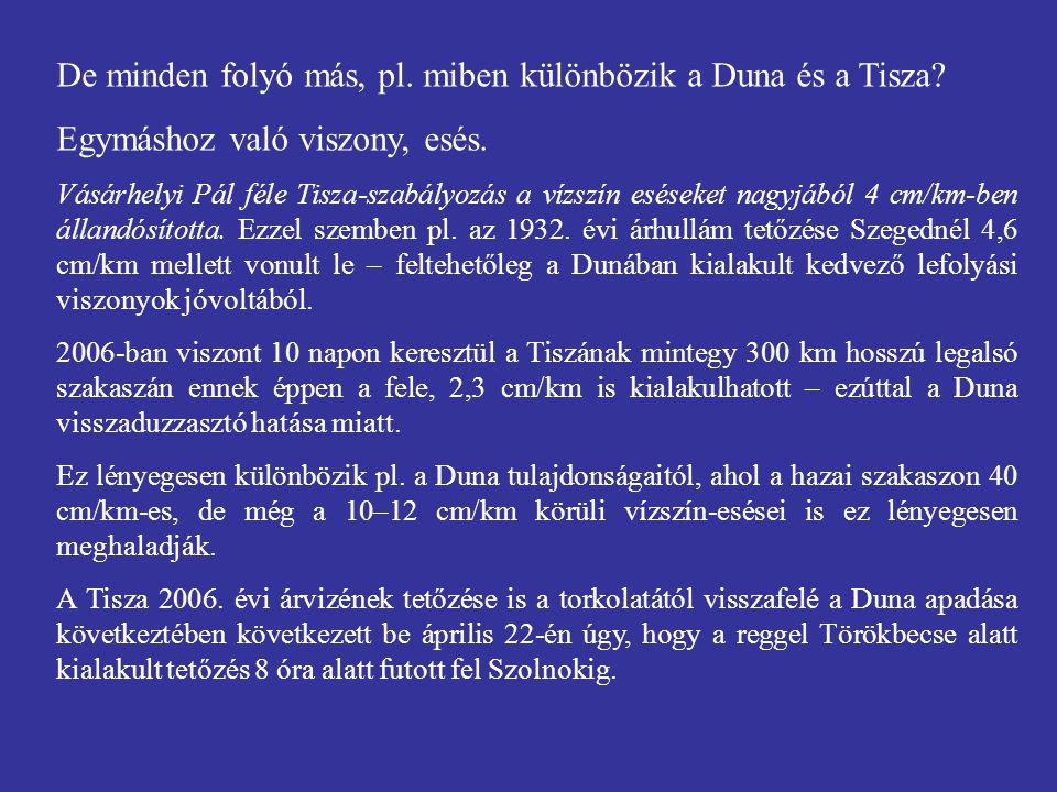 De minden folyó más, pl. miben különbözik a Duna és a Tisza