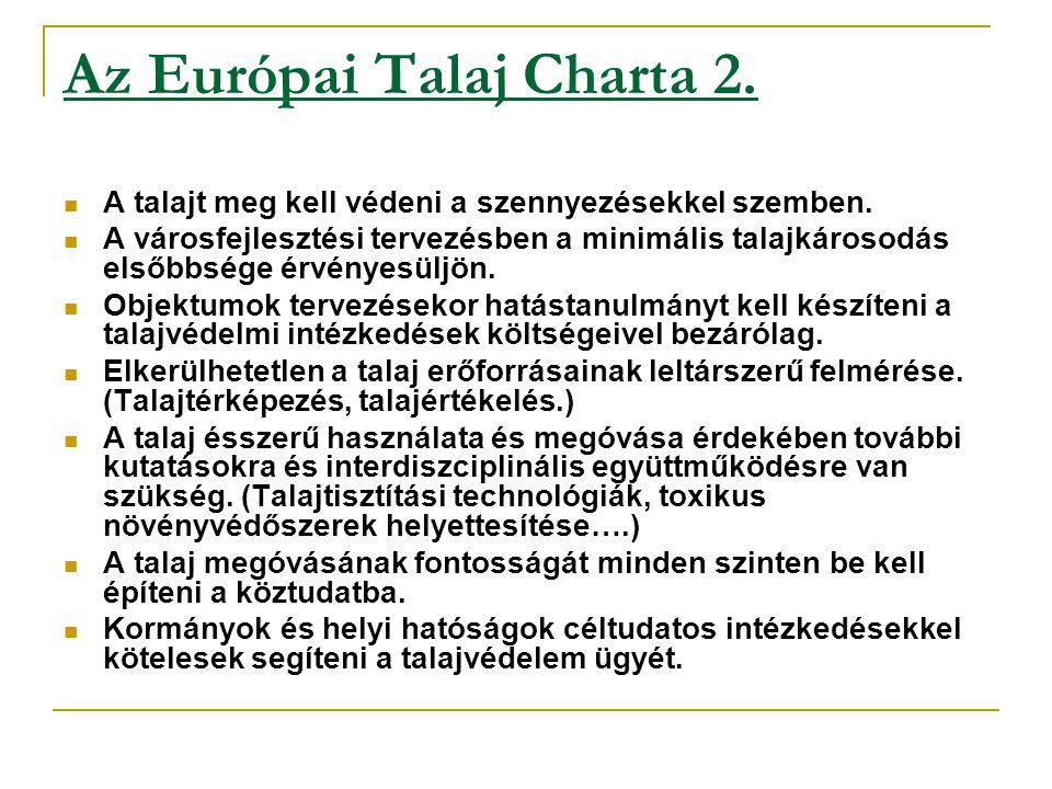 Az Európai Talaj Charta 2.