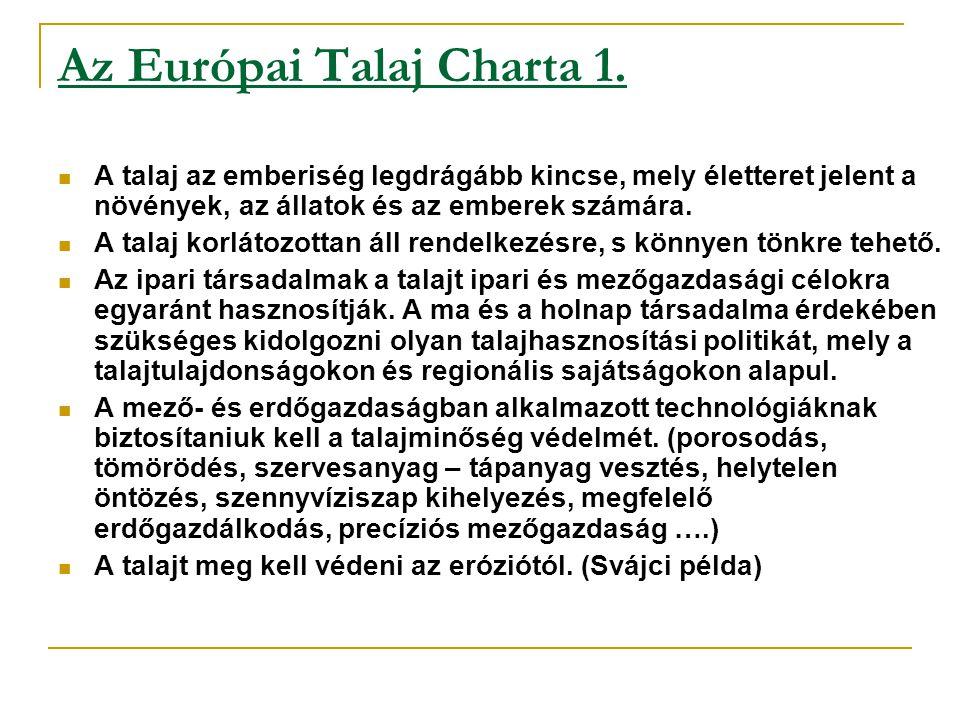 Az Európai Talaj Charta 1.