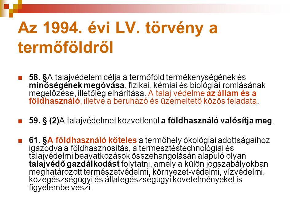 Az 1994. évi LV. törvény a termőföldről