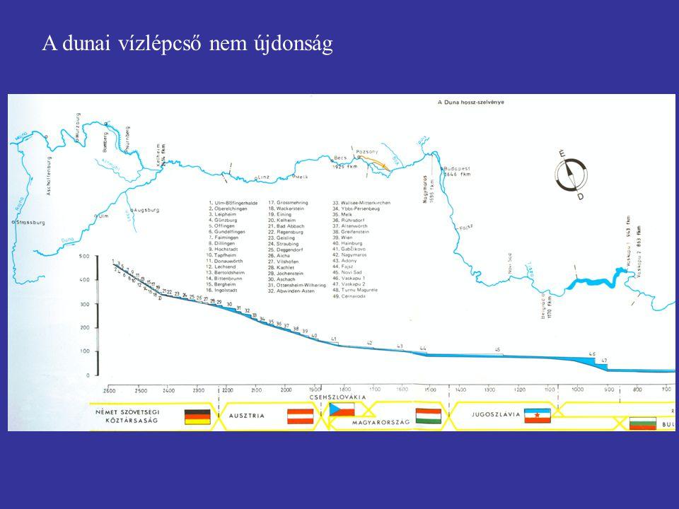 A dunai vízlépcső nem újdonság