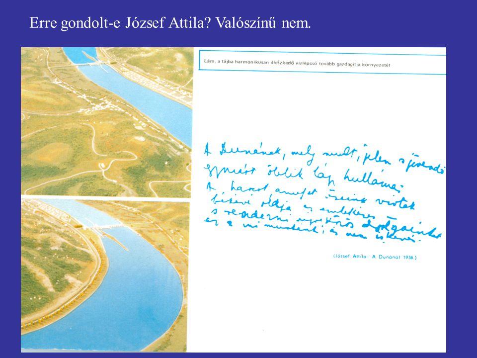 Erre gondolt-e József Attila Valószínű nem.