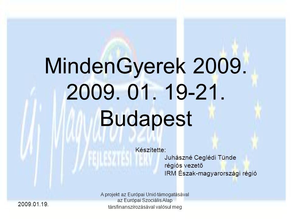 MindenGyerek 2009. 2009. 01. 19-21. Budapest