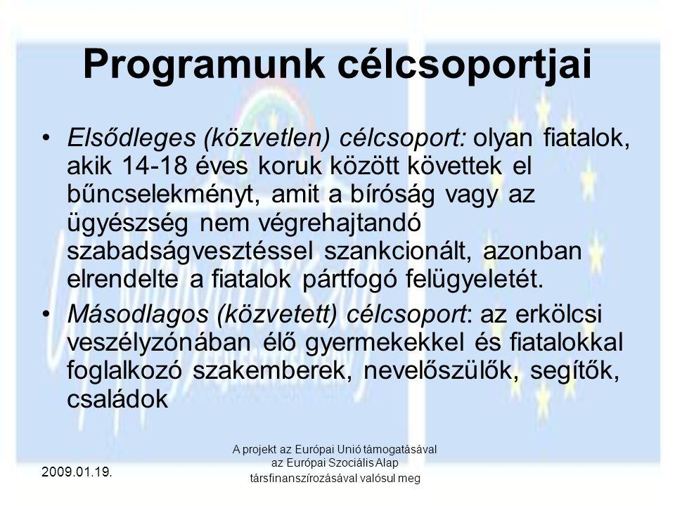 Programunk célcsoportjai