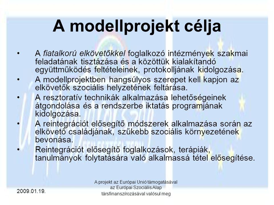 A modellprojekt célja