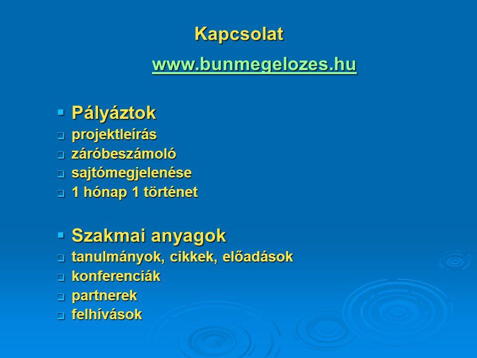 Kapcsolat www.bunmegelozes.hu