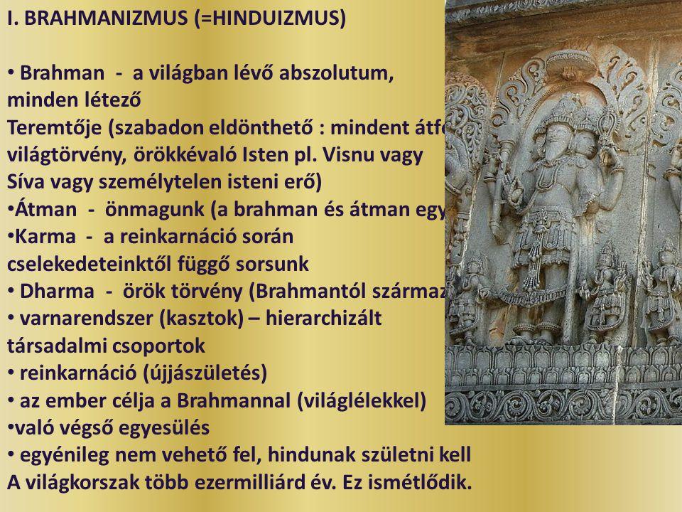 I. BRAHMANIZMUS (=HINDUIZMUS)