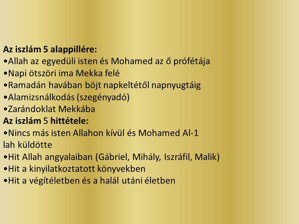 Az iszlám 5 alappillére: