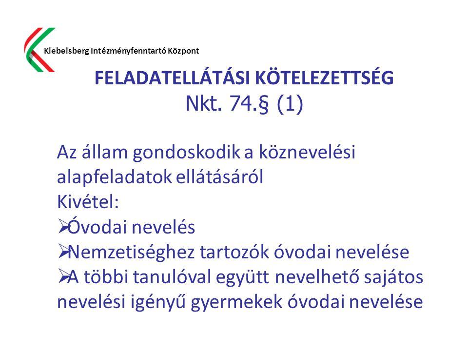 FELADATELLÁTÁSI KÖTELEZETTSÉG Nkt. 74.§ (1)