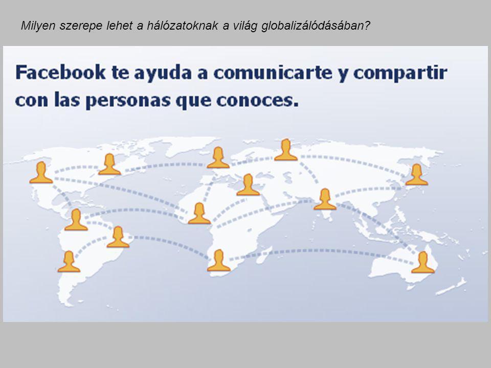 Milyen szerepe lehet a hálózatoknak a világ globalizálódásában