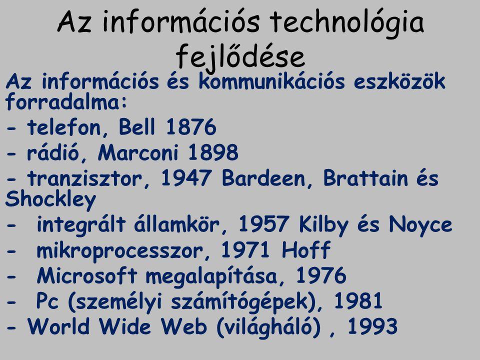 Az információs technológia fejlődése