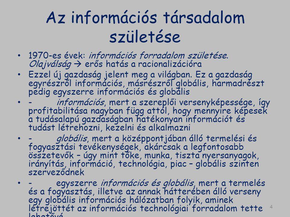 Az információs társadalom születése