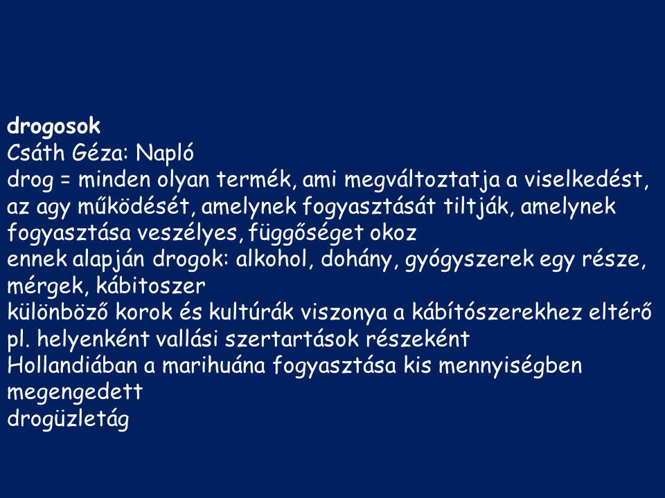 drogosok Csáth Géza: Napló.