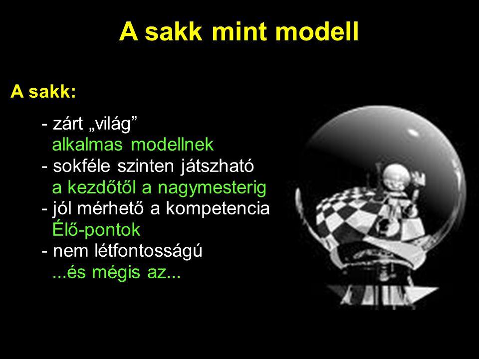 """A sakk mint modell A sakk: - zárt """"világ alkalmas modellnek"""