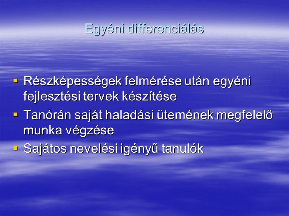 Egyéni differenciálás
