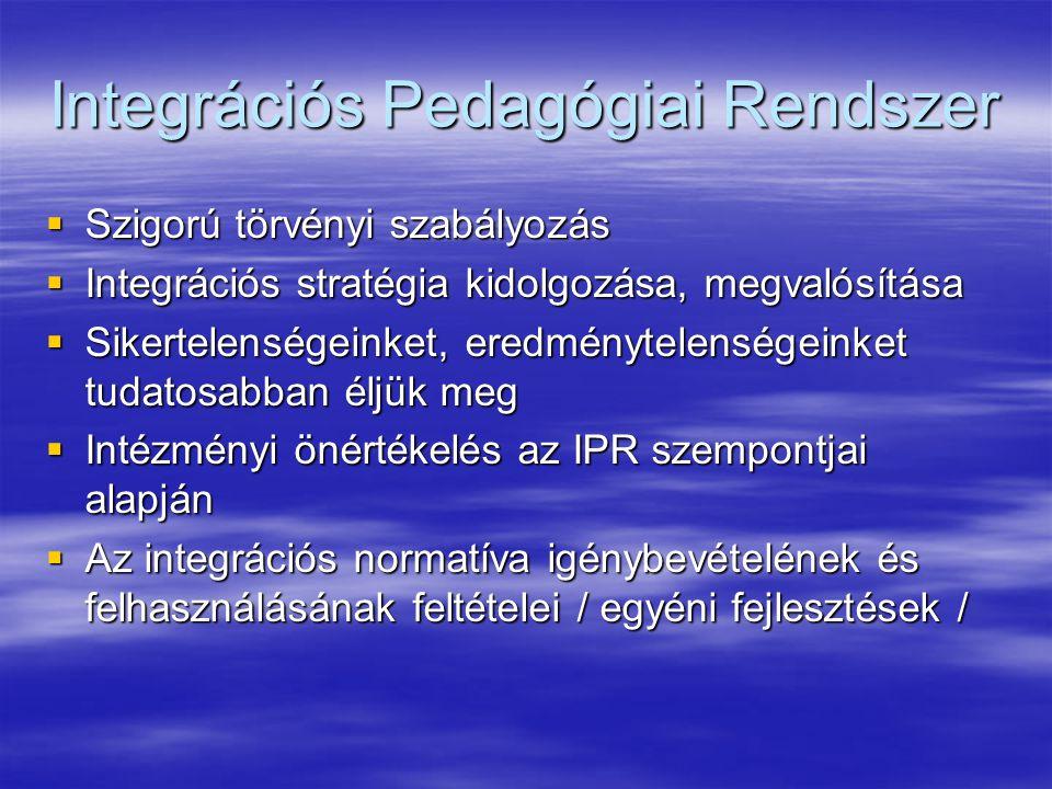 Integrációs Pedagógiai Rendszer