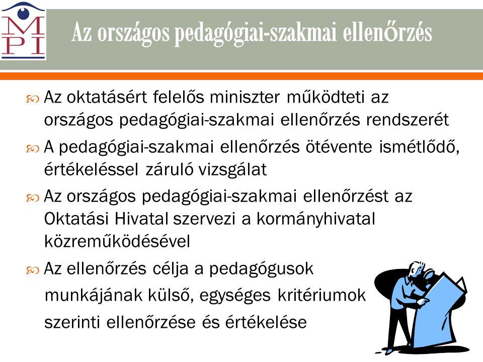 Az országos pedagógiai-szakmai ellenőrzés