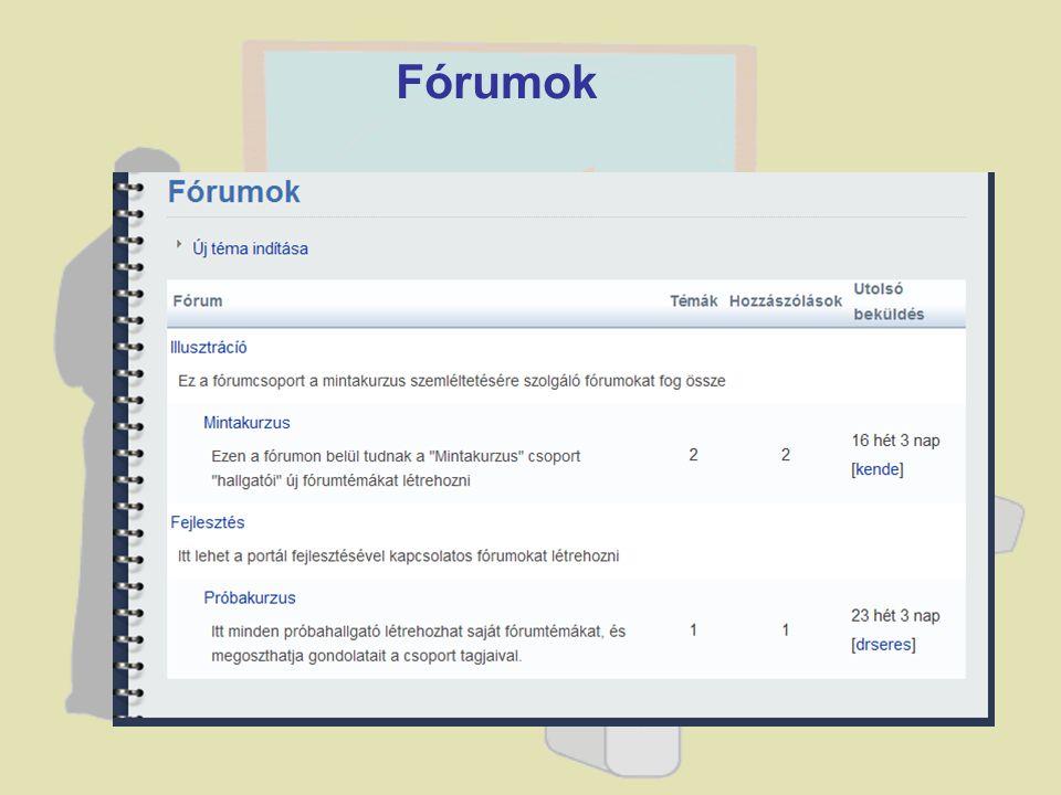 Fórumok
