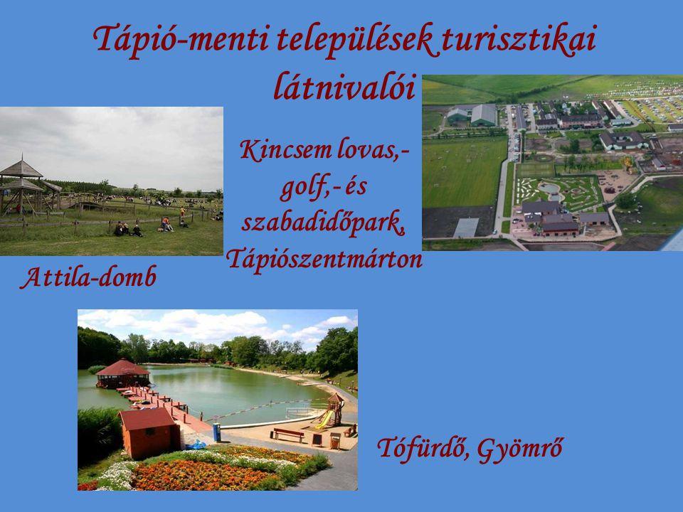 Tápió-menti települések turisztikai látnivalói