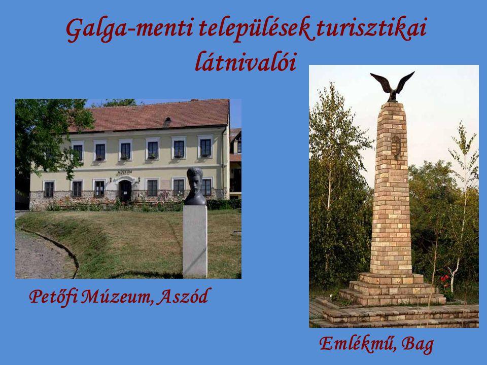 Galga-menti települések turisztikai látnivalói