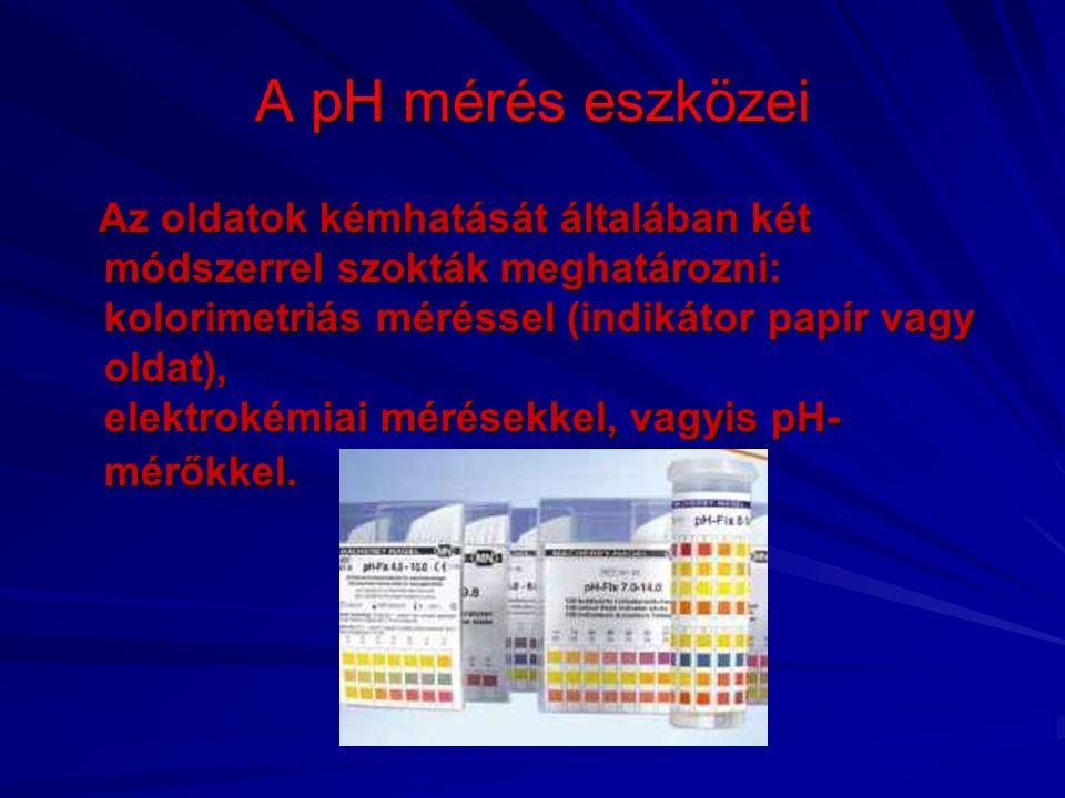 A pH mérés eszközei