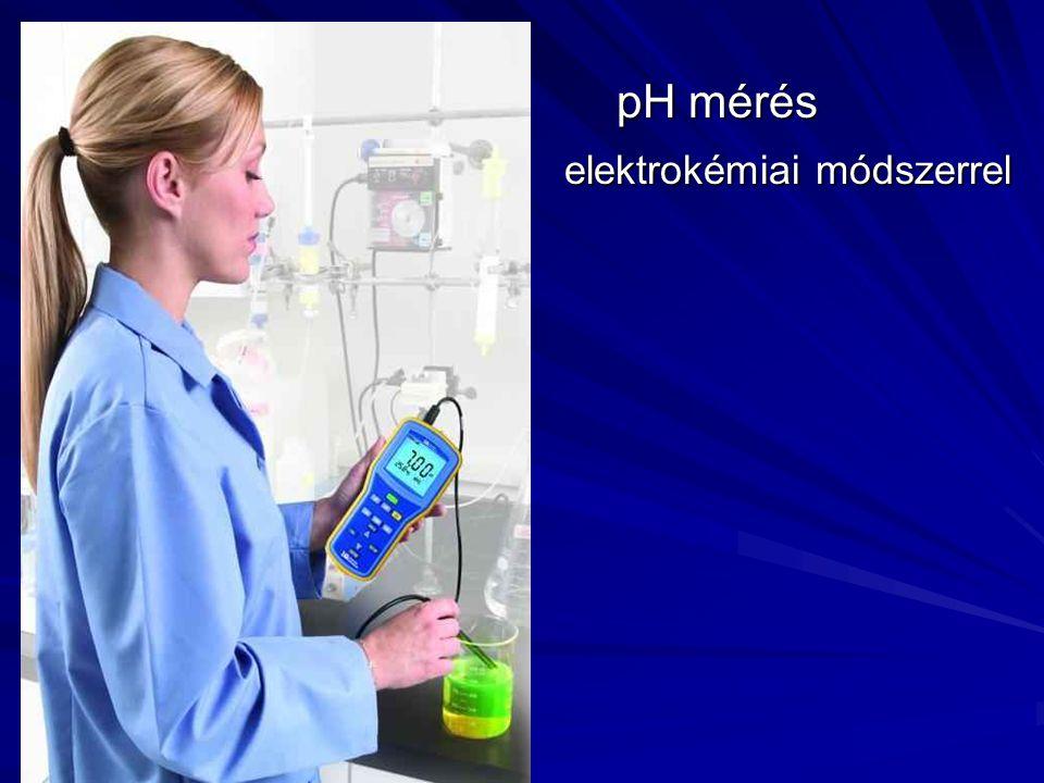 pH mérés elektrokémiai módszerrel